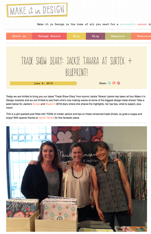 Category blueprint 2018 unblink studio by jackie tahara honoured that the team at make it in design posted my trade show diary today about my first experience exhibiting at both surtex and blueprint show 1 malvernweather Images