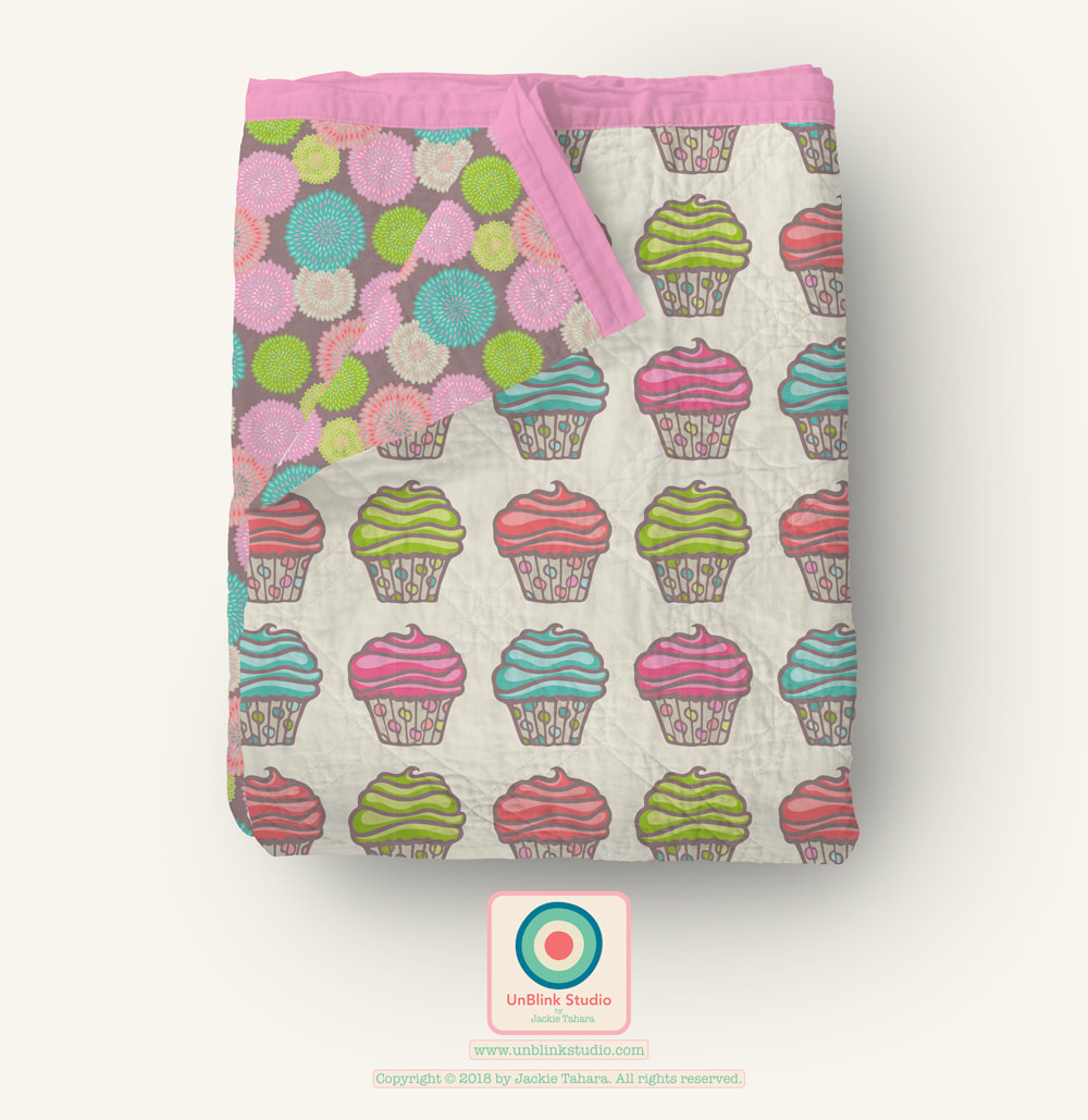 Cupcake Print and Pattern Design from UnBlink Studio by Jackie Tahara