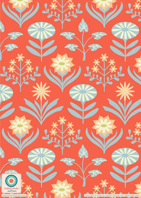 Floral Pattern Design from UnBlink Studio by Jackie Tahara