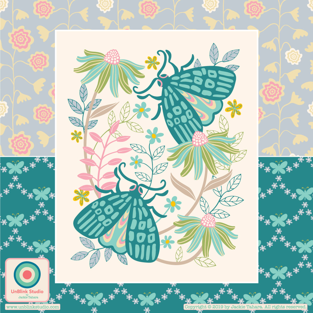 Butterfly Print Design from UnBlink Studio by Jackie Tahara